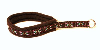 art 81501 Nomehalsband svart apachemönster med svart fleece 20mm * 30cm